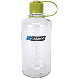 Nalgene 1L Narrow Mouth Bottles Clear/Green (2033)